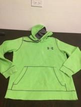 Men's Under Armour Green Hoodie Sweatshirt Small Good Condition - $19.79