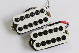 White Bridge Neck Guitar Humbucker Pickup Set Invader Style - $21.77
