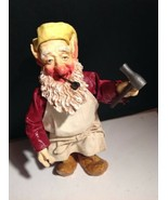Clothtique Gnome Elf Smoking Pipe And Holding Tool - $13.86
