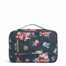Vera Bradley Large Blush and Brush Makeup Cosmetic Case TOSSED POSIES  NWT - $49.49