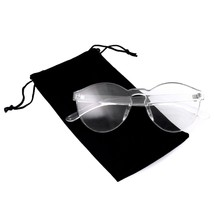 Colorful One Piece Rimless Transparent Sunglasses Women Tinted Candy Col... - $8.08+