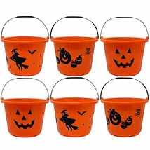 """Gift Boutique 6 Pack Halloween Candy Bucket 9"""" Diameter 7"""" High with Han... - £16.87 GBP"""