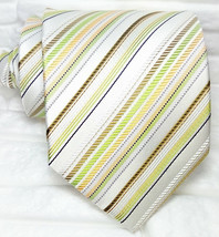 Striped tie , New 100% silk Top Quality handmade Made in Italy Morgana b... - $27.18