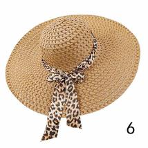 Huation 2019 New Sun Hats for Women Girls Wide Brim Floppy Straw Hat Summer Bohe image 6