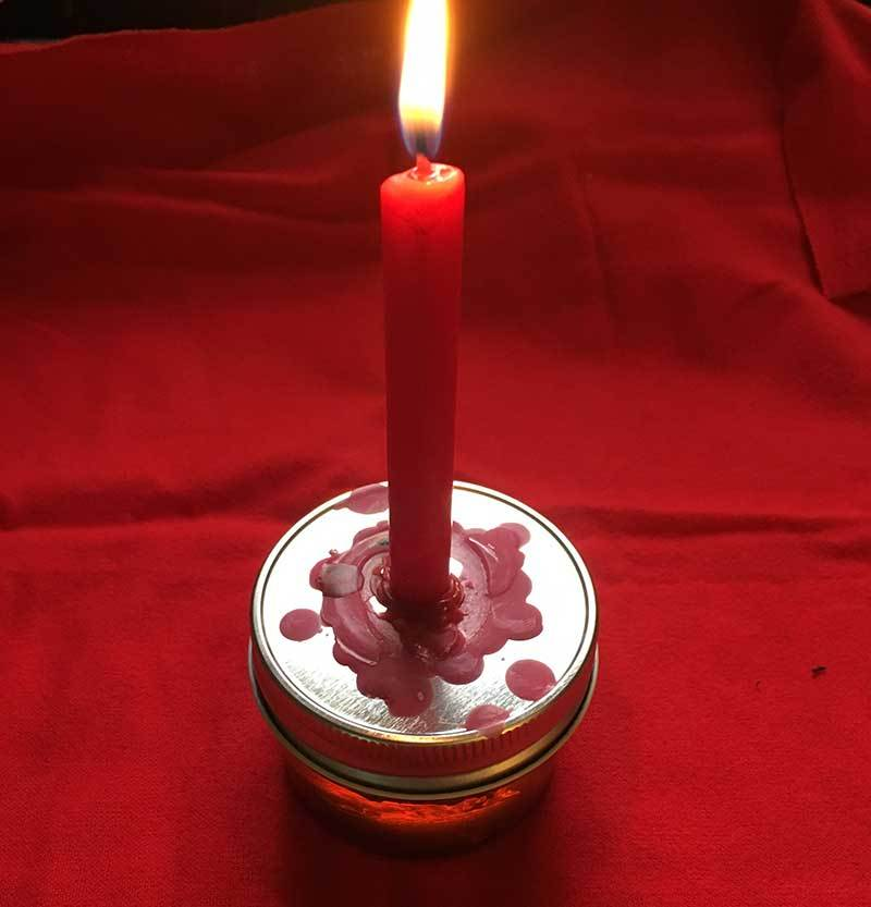 Primary image for HONEY JAR Hoodoo Candle Spell for LOVE, MONEY  ONE MONTH duration using Lucky Mo