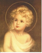 "Catholic Print Picture Christ Child Jesus by Charlotte Becker 8x10"" - $14.01"