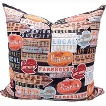 Farmhouse Fall Pillow Cover - Thanksgiving Farmhouse Decor - Festive Fal... - $19.99