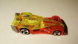 Hot Wheels Road Rocket Transparent Orange Yellow Car Mattel 1995 - $6.99