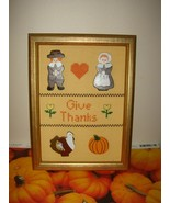 Thanksgiving Cross Stitch Thanksgiving Frame - $13.99
