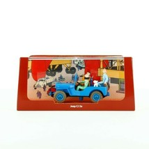 Blue Willys Jeep Destination Moon Voiture Tintin Cars Atlas 1/43