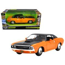 1970 Dodge Challenger R/T Orange \Classic Muscle\ 1/24 Diecast Model Car... - $29.38