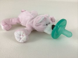 WubbaNub Infant Pacifier Soothie Plush Pink Bear Stuffed Animal Soother ... - $14.80