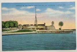 Old Vintage Linen Era Postcard Castillo de San Marcos From Bay St. Augus... - $11.71