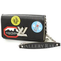 LOUIS VUITTON Portefeuille Twist Noir Epi M62007 Chain Wallet Authentic ... - $1,307.20