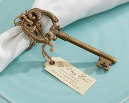 Vintage Antique Skeleton Key Bottle Opener Gold Anniversary Bridal Weddi... - $83.55+