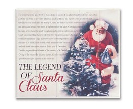 "13.5"" The Legend of Santa Claus Vintage Style Hanging Christmas Wall Plaque - $18.50"