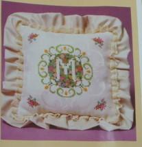 Vintage Creative Circle Springtime Initial Pillow Kit 466 Flowers Damask... - $19.79