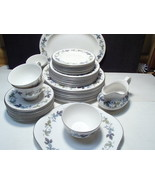 "46 Piece Set Royal Doulton ""Burgundy"" China ~~ Serv for 8 +/- - $194.99"