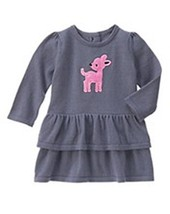 Gymboree Girls Cozy Critters Deer Sweater Dress 12-18  NWT - $21.99