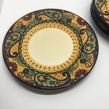 "CORSICA CROWN JEWEL PATTERN SET OF 5 DINNER PLATES 11"" WIDE - $49.50"