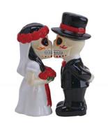 Day of the Dead Wedding Skeletons Salt & Pepper Shakers Set Dia de los M... - $25.15