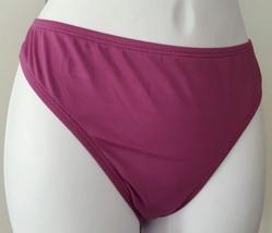 Candies Women Junior Swim Bikini Scoop Bottom Solid Eggplant Purple - $9.99