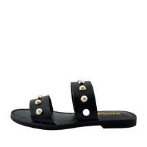 Soda Gills S Black Women's Open Toe Dual Strap Embellished Sandals - $24.95+