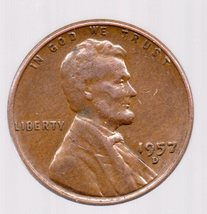 1957 D Lincoln Cent - Granny Estate Find - Fast Free Shipping - $4.99