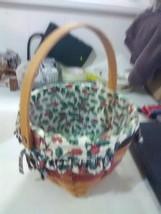 Longaberger Jingle Belk Basket with Swing Handle, Liner and Protector - ... - $11.91