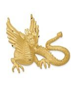 14K Yellow Gold Dragon Slide Charm Pendant 1.42 Inch - $926.91