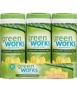 Green Works Compostable Cleaning Wipes, Biodegradable Cleaning Wipes - O... - $15.77