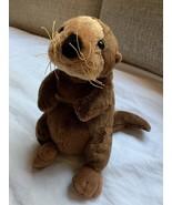 "Ganz WebKinz Sea Otter Plush Toy Brown Tan 8"" Tall Bean Bag used nice Condition - $16.82"