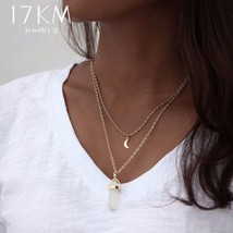 17KM® Bohemian Opal Stone Moon Choker Necklace New Fashion Charm Pendant... - $3.61