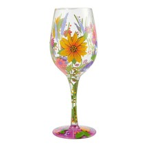 """Wine in the Garden """"Designs by Lolita"""" Wine Glass 15 o.z. 9"""" High  Gift Boxed image 2"""