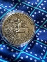 1 oz Silver Antique Round - Zodiac Skull Series (Sagittarius) - $89.09