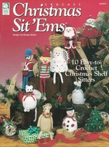 Christmas Sit 'Ems ~ Crochet NEW Shelf Sitters Holiday OOP RARE Pattern ... - $7.87