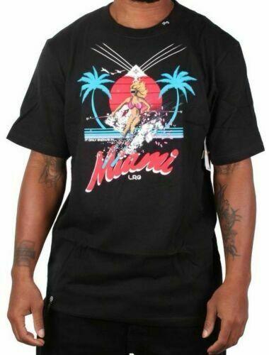 LRG Uomo It Only Snows IN Miami T-Shirt,Bianco,Piccolo