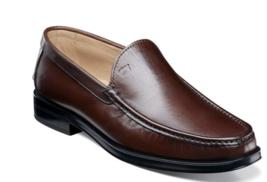Men's Shoes Florsheim Palace Moc Toe Venetian Slip On Brown  Italian  51907-B04 - $157.50