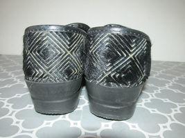 6 Geometric Clog Size Print Sanita 5 Diamond Hair US Black 37 Professional Pony 8E87H