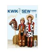 Kwik Sew K3920 Giddyup Chaps Sewing Pattern, Vest - $15.68