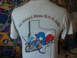 Vintage 90s Harley Davidson Owners Group 1991 Waco Motorcycle Pocket T S... - $15.83