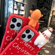 Christmas 3D Deer Bear Phone Case For iPhone 11 11 Pro XR XS X XS Max 7 ... - $192,11 MXN