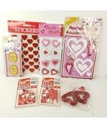 50 Valentine Sticker Scrapbooking Craft Pcs Puffy Jolee Foil Roses Heart... - $35.00