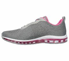 Skechers Shoes Women Gray Pink Memory Foam Sport Air Cushion Mesh Comfort 12644 image 3