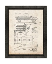 Fire-truck Apparatus Patent Print Old Look with Beveled Wood Frame - $24.95+