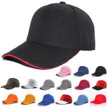 Baseball Cap With Classic Adjustable Fastner Plain Mens Womens Sun Summe... - $15.72
