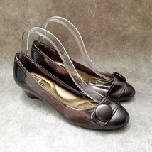 """Coach and Four Womens   Sz 8.5 M Brown  Slip On 1.5"""" Wedge Heels - $26.99"""