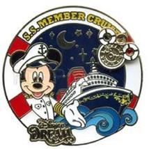 Disney DVC DCL Disney Vacation Club SS Member Cruise LE 1000 Captain Mickey Pin - $14.69
