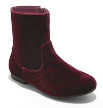 Brand New Little Girl's Art Class Paris Burgundy Red Velvet Fashion Boots NWT
