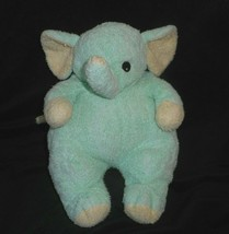 TY 2000 ELEPHANTBABY GREEN ELEPHANT BABY RATTLE PILLOW PALS STUFFED ANIM... - $28.05